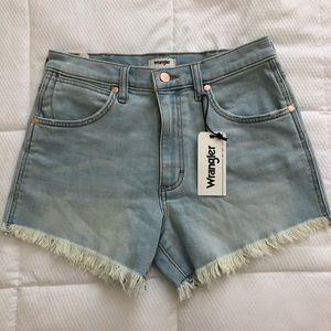 Wrangler cut off jean shorts